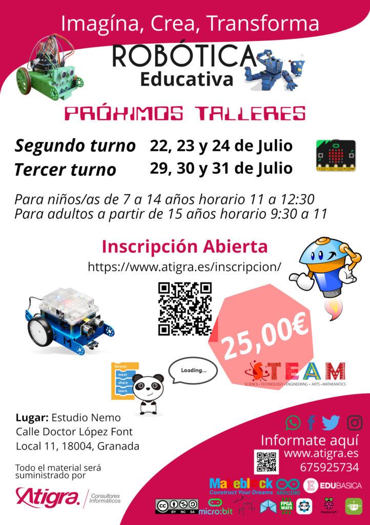 Comienzo del segundo turno el 22, 23 y 24 de Julio. www.atigra.es