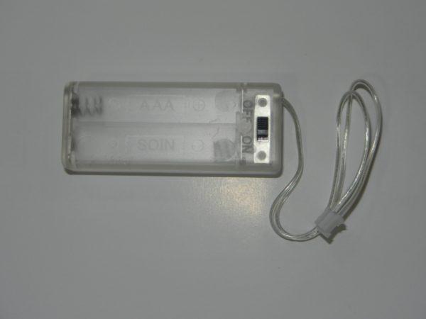 Portapilas AAA micro:bit con interruptor
