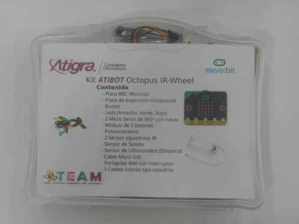 Presentación del Kit AtiBot Octopus IR-Wheel