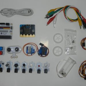 Componentes del Kit AtiBot Octopus IR-Wheel