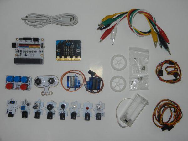 Componentes del Kit AtiBot Octopus IR-Wheel