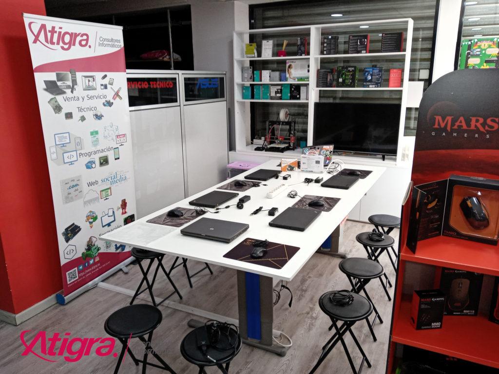 Espacio en Atigra para talleres y cursos