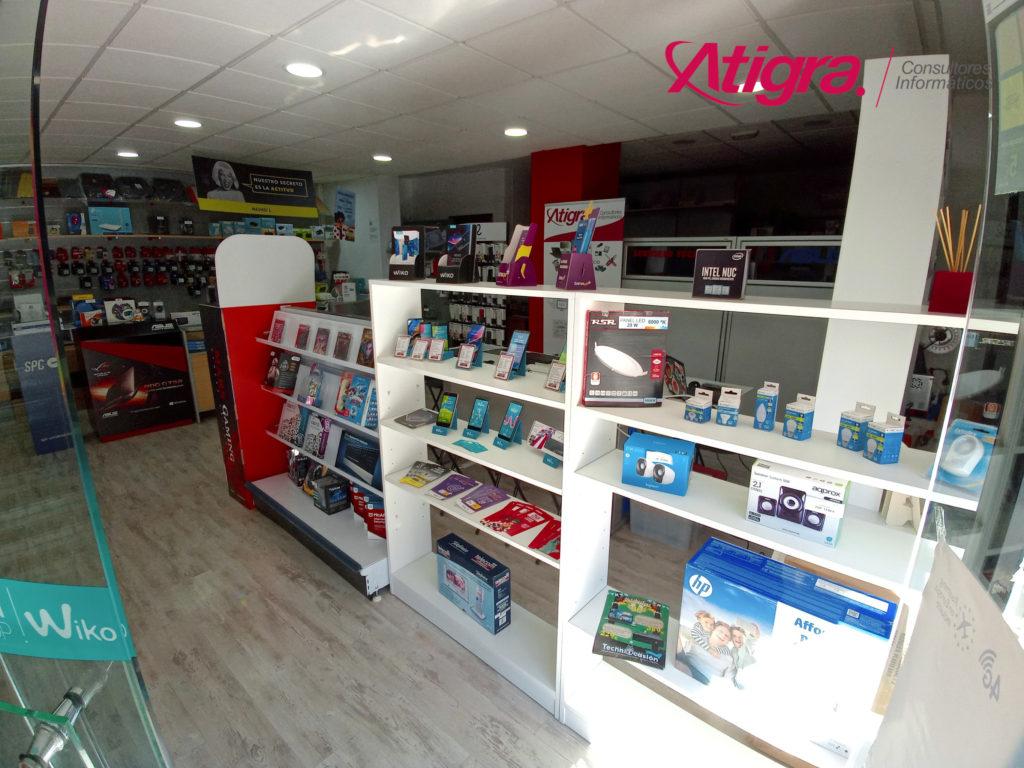 Imagen del interior renovado de la tienda