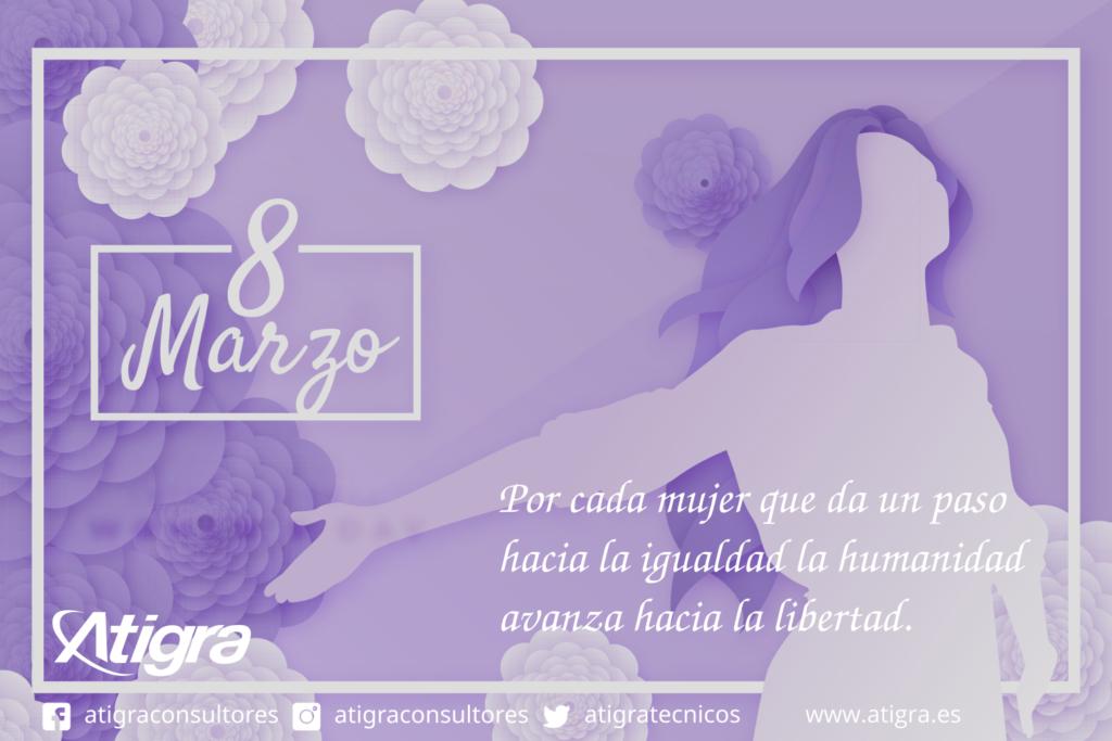 Por cada mujer que da un paso hacia la igualdad la humanidad avanza hacia la libertad.💜